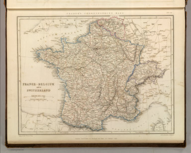 Sharpe's Corresponding Maps. France - Belgium and Switzerland. London - Published by Chapman and Hall, 186 Strand, 1847. Divisional Series.