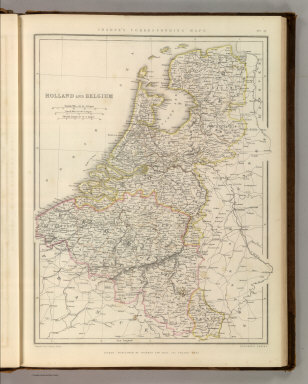 Sharpe's Corresponding Maps. Holland and Belgium. London - Published by Chapman and Hall, 186 Strand, 1847. Enlarged Series.