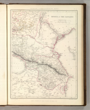 Sharpe's Corresponding Maps. Russia at the Caucasus. London - Published by Chapman and Hall, 186 Strand, 1847. Divisional Series.