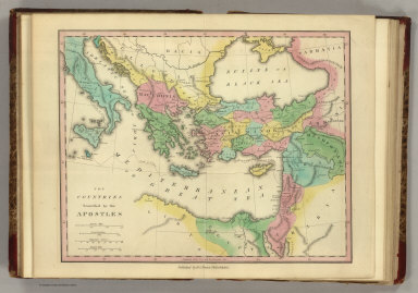 The Countries Traveled by the Apostles. Published by H.S. Tanner, Philadelphia. (1826)