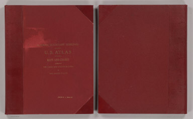 (Covers to) Alaskan Boundary Tribunal. (Volume 2) United States Atlas. Maps And Charts Accompanying The Case And Counter Case Of The United States. Washington, Government Printing Office, 1904.