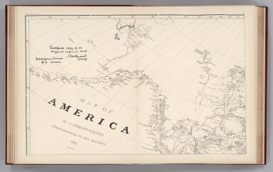 (Facsimile) Map of America (portion) by A. Arrowsmith. 1822. Additions to 1823. Alaska Boundary Tribunal, 1903. 10. Photo. Lith. by A. Hoen & Co. Baltimore, MD.