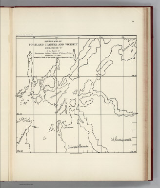 """(Facsimile) Sketch Map of Portland Channel and Vicinity Enclosure """"C"""" (portion). In the Report of Lieutenant Colonel Robert N. Scott, U.S.A., November 12, 1867. Alaskan Boundary Tribunal, 1903. 31. Andrew B. Graham. Photo-Litho. Washington.D.C."""