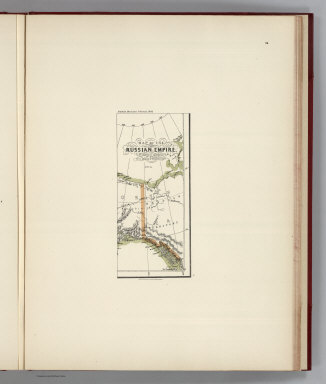 (Facsimile) Map of the Russian Empire (portion), Compiled to accompany Mr. Hills Travels. Alaskan Boundary Tribunal, 1903. 34. Andrew B. Graham. Photo-Litho. Washington.D.C.