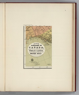 (Facsimile) Map of the Dominion of Canada (portion), shewing the extent and situation of its Public Lands, also its Geographical Relation to the British Isles. Published by order of the Hon: the Minister of the Interior. Department of Interior: Dominion Lands Office, Ottawa, 1st. Novr., 1878. Compiled & Drawn by J. Johnston, Chief Draftsman. Alaskan Boundary Tribunal, 1903. 39. Andrew B. Graham. Photo-Litho. Washington.D.C.