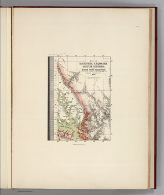 (Facsimile) Map of Manitoba, Keewatin, British Columbia and North West Territory (portion). Shewing the Country to be Traversed by the Canadian Pacific Railroad. 1880. Dawson Brothers, Montreal. Alaskan Boundary Tribunal, 1903. 40. Andrew B. Graham. Photo-Litho. Washington.D.C.