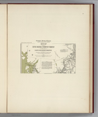 (Facsimile) Geological Survey of Canada, Alfred R.G. Selwyn, LL.D., F.R.S. Director. Map of Part of British Columbia and the North West Territory from the Pacific Ocean to Fort Edmonton (portion). To Illustrate Report by George M. Dawson. D.S., A.R.S.M., F.G.S. 1879-80. Compiled and Drawn by Wm. Bell Dawson, Ma.E., Assoc. M. Inst.C.E. Alaskan Boundary Tribunal, 1903. 41. Andrew B. Graham. Photo-Litho. Washington.D.C.