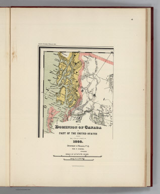 (Facsimile) Map of the Dominion of Canada and Part of the United States (portion) Compiled by Messrs. J. Tache and F.X. Genest. P.L.S. 1883. Department of Railways, P.Q. Hon. H. Starnes, Commissioner. Alaskan Boundary Tribunal, 1903. 43. Andrew B. Graham. Photo-Litho. Washington.D.C.