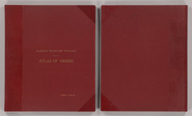 (Covers to) Alaskan Boundary Tribunal. (Volume 3). Atlas of Award. Twenty-five Sectional Maps and Index Map Showing the Line Fixed by the Tribunal. Washington. Government Printing Office. 1904.