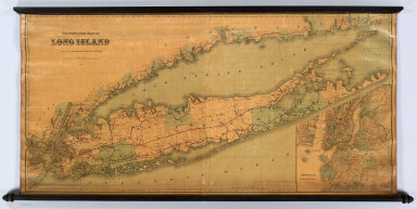 Colton's New Map Of Long Island. Published By G.W. & C.B. Colton & Co. 182 William St. New York. 1888. Entered ... 1873 by G.W. & C.B. Colton & Co. ... Washington. (inset) Brooklyn, New York, Jersey City, Hoboken Etc.
