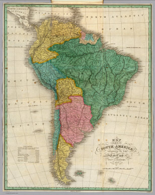 Map of South America according to the Latest and Best Authorities. 1827. D.H. Vance del. Published by A. Finley Philada. J.H. Young, Sc.