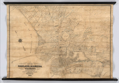 Map of Oakland, Alameda and Vicinity, Showing Plan of Streets as Opened and Proposed, Compiled from the most Reliable Public & Private Surveys, Published by M.G. King C.E.