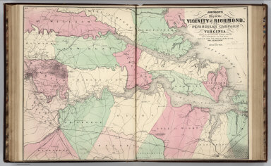 Browse all atlas map from us civil war david rumsey historical vicinity of richmond and peninsular campaign in virginia american civil war gumiabroncs Gallery