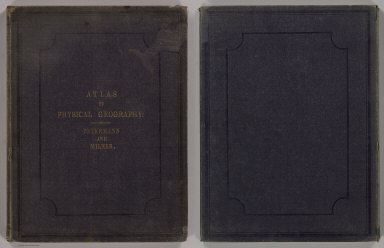 (Covers to) The Atlas Of Physical Geography: Constructed By Augustus Petermann, F.R.G.S. ... With Descriptive Letter-Press, Embracing A General View Of The Physical Phenomena Of The Globe. By The Rev. Thomas Milner, M.A., F.R.G.S. ... Illustrated by One Hundred and Thirty Vignettes on Wood. London: Wm. S. Orr And Co., Amen-Corner, Paternoster-Row. MDCCCL.