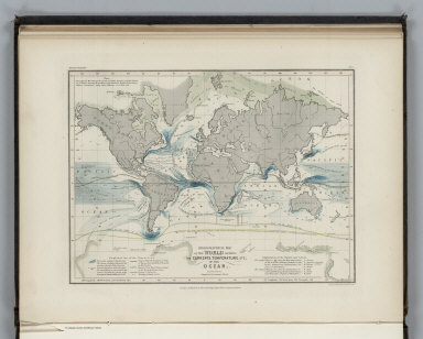 Hydrography. No. 6. Hydrographical Map of the World Showing the Currents, Temperature, etc. of the Ocean. Constructed by Augustus Petermann, F.R.G.S. Engraved by John Dower, Pentonville, London. London: Published by Orr and Compy. Amen Corner, Paternoster Row.