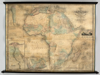 Map of Africa: Carefully Compiled From The Latest Maps & Charts And Other Geographical Publications. Philadelphia. Published By H.S. Tanner, 1848. Engraved By J.H. Young & E. Dankworth.
