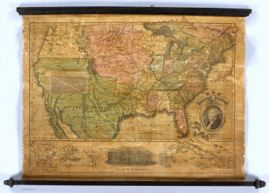 Map of the United States Compiled from the most Authentic Sources. Published By Willis Thrall, Hartford, 1831. (with four inset maps).