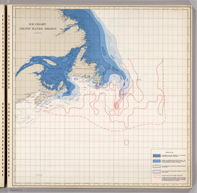 Ice Chart, Grand Banks Region, March.