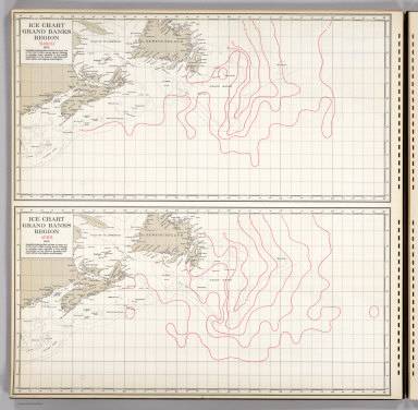 Ice Chart, Grand Banks Region, March, April.