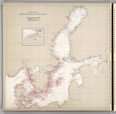 Baltic Sea, Index Chart for Ice Data Tables.