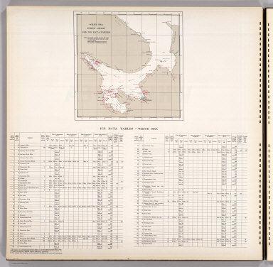 White Sea Index Chart for Ice Data Tables. Text: Ice Data Tables, White Sea.