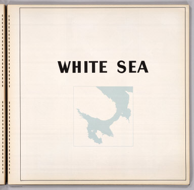 (Section Title Page) White Sea.