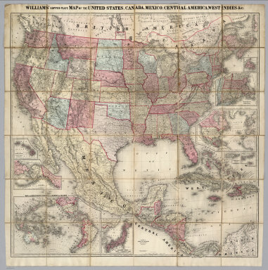 Williams' Copper - Plate Map Of The United States, Canada, Mexico, Central America, West Indies, &c. Published by John M. Atwood, 402 Locust Street, Philadelphia. Printed by F. Bourquin, 31 So. 6th Street, Phila. Copyright 1876 by G. Washington Williams.