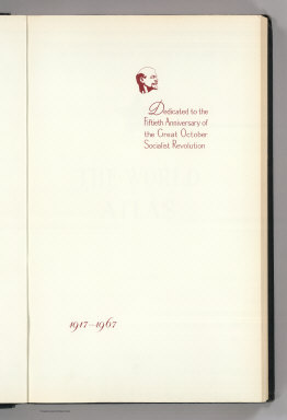 (Text Page) Dedicated to the Fiftieth Anniversary of the Great October Socialist Revolution, 1917 - 1967.