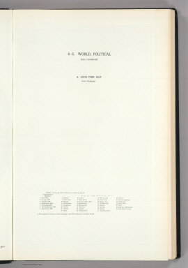 (Map Title Page) 4-5. World, Political. 6. Zone - Time Map.