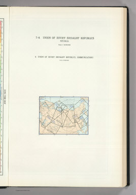 (Map Title Page) 7-8. Union of Soviet Socialist Republics, Physical. 9. Union of Soviet Socialist Republics, Communications.