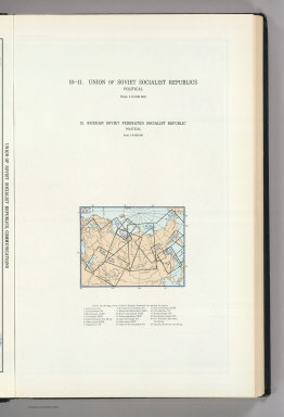 (Map Title Page) 10-11. Union of Soviet Socialist Republics, Political. 12. Russian Soviet Federated Socialist Republic, Political.