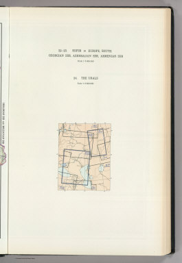 (Map Title Page) 22-23. (Russian Soviet Federated Socialist Republic) in Europe, South. 24. Urals.