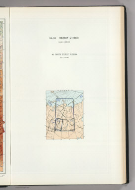 (Map Title Page) 34-35. Siberia, Middle. 36. South Yenisei Region.