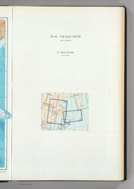 (Map Title Page) 43-44. Far East, South. 45. Kuril Islands.