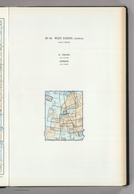 (Map Title Page) 49-50. West Europe, Political. 51. Iceland, Denmark.