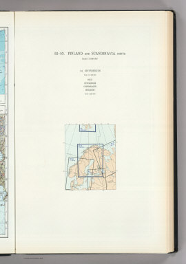 (Map Title Page) 52-53. Finland, Scandanavia, North. 54. Spitsbergen, Oslo, Stockholm, etc.