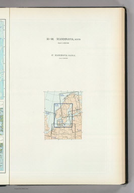 (Map Title Page) 55-56. Scandanavia, South. 57. Scandanavia, Political.