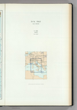 (Map Title Page) 73-74. Italy. 75. Rome, Naples.