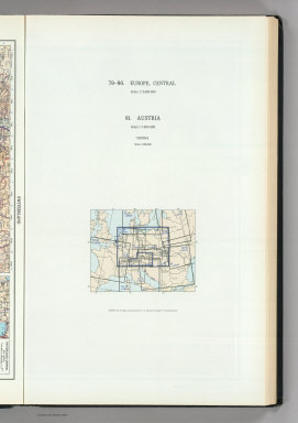 (Map Title Page) 79-80. Europe, Central. 81. Austria.