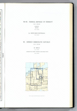 (Map Title Page) 82-83. Federal Republic of Germany (West Germany). 84. North Rhine-Westphalia. 85. German Democratic Republic (East Germany). 86. Berlin.