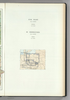 (Map Title Page) 87-88. Poland. 89. Czechoslovakia.