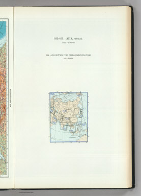 (Map Title Page) 102-103. Asia, Physical. 104. Asia.