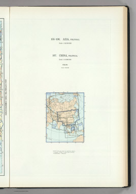 (Map Title Page) 105-106. Asia, Political. 107. China, Political.