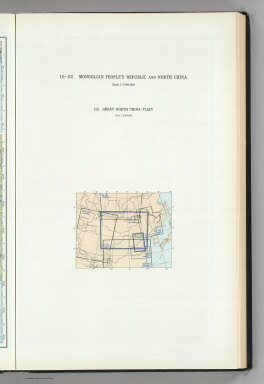 (Map Title Page) 111-112. Mongolia, North China. 113. Great North China Plain.