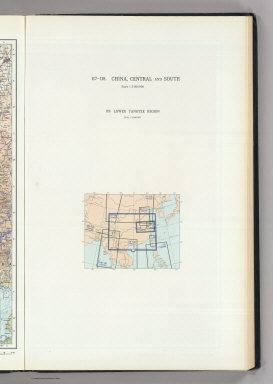 (Map Title Page) 117-118. China, Central and South. 119. Lower Yangtze Region.