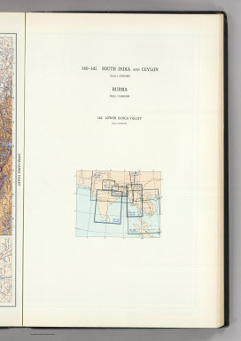 (Map Title Page) 140-141. South India, Ceylon, Burma. 142. Lower Ganga (Ganges) Valley.