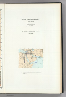 (Map Title Page) 152-153. Arabian Peninsula. Bahrein (Bahrain) Islands. 154. Near and Middle East, Political.