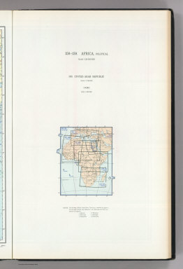 (Map Title Page) 158-159. Africa, Political. 160. United Arab Republic. (Egypt). Cairo.