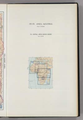 (Map Title Page) 170-171. Africa, Equatorial. 172. Central Africa Mining Region.