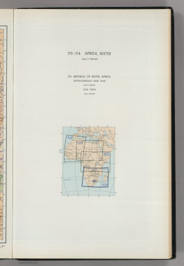 (Map Title Page) 173-174. Africa, South. 175. Republic of South Africa.
